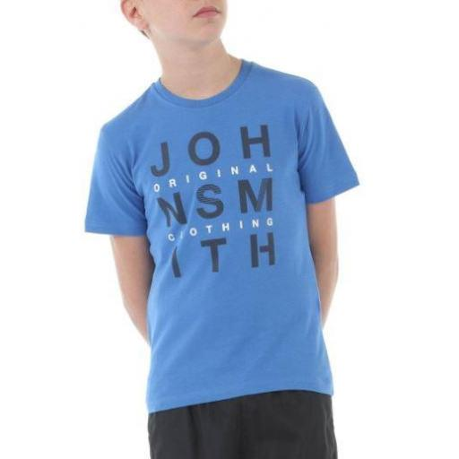 Camiseta Manga Corta Niño John Smith Lainate J. Azul Real.