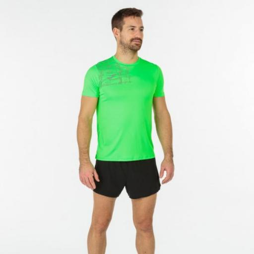 JOMA Elite VIII Short Sleeve Camiseta Hombre. Flúor green. 102242.020 [2]
