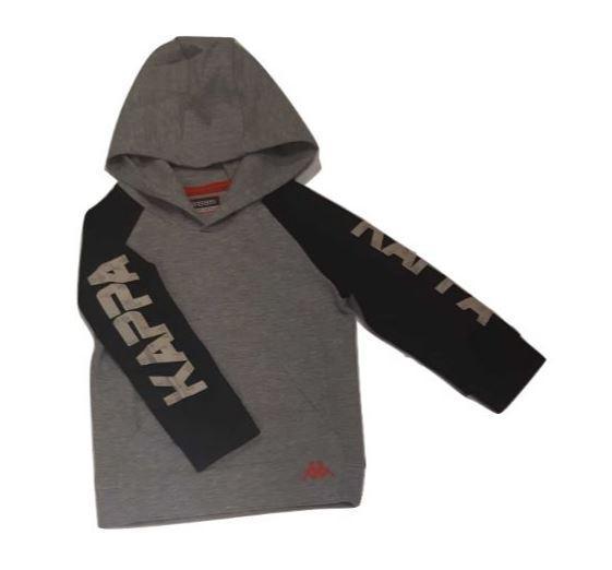 Sudadera niño Kappa Logo Killou. 304N9U0. Grey mel- black.