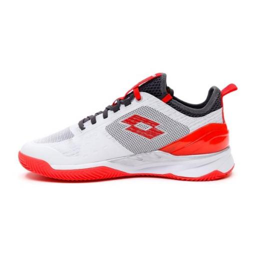 Zapatillas Pádel LOTTO MIRAGE 200 CLY. 213626. White/red [1]