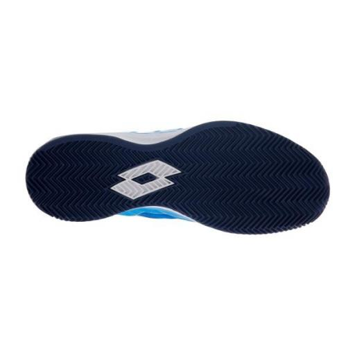 Zapatillas pádel Lotto Mirage 200 Clay. Diva Blue/All White/Navy Blue [2]
