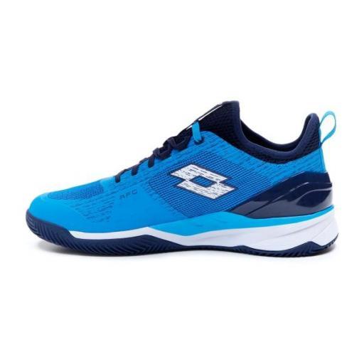 Zapatillas pádel Lotto Mirage 200 Clay. Diva Blue/All White/Navy Blue [1]