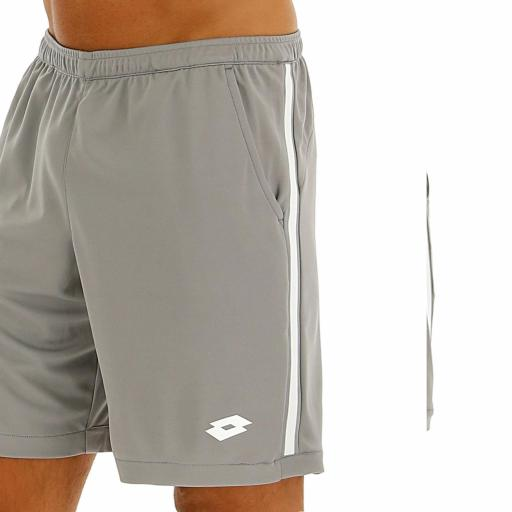 Pantalón Corto Lotto Squadra Short9 PL. Alloy Gray. 210378