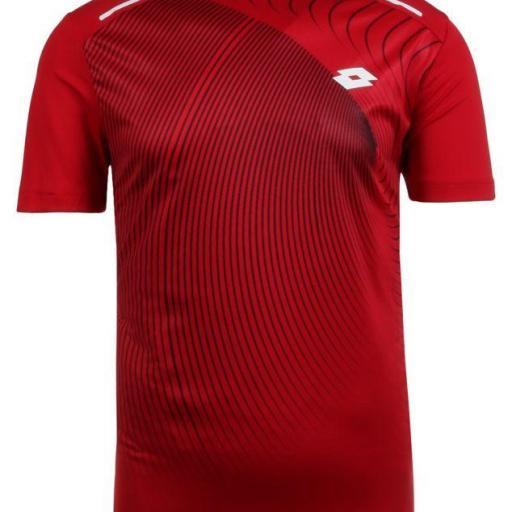 Camiseta Lotto Superrapida II Tee. Red. 210574 [1]