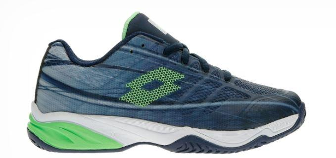 Zapatilla Tenis Pádel Lotto Mirage 300 ALR Junior. 210746. Navy blue/green.