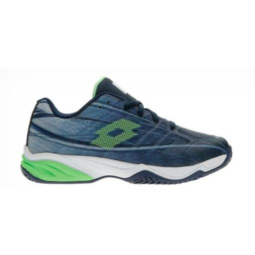 Zapatilla Tenis Pádel Lotto Mirage 300 ALR Junior. 210746. Navy blue/green. [0]