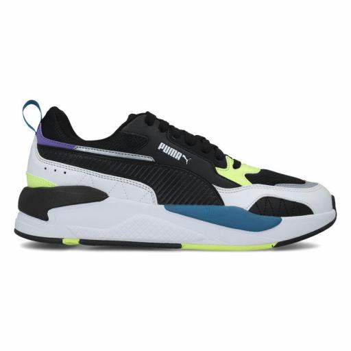 Puma X-Ray 2 Square. White Black-Yellow. 373108 01