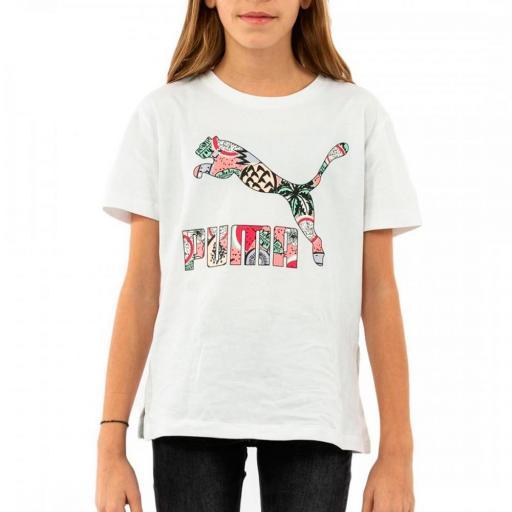 Camiseta Niña Puma Classics Tee Manga corta. White. 580286 62