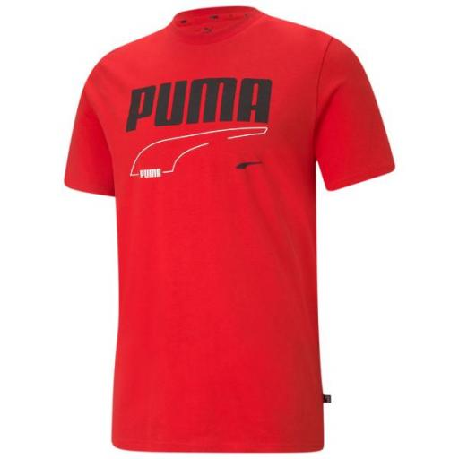 PUMA REBEL Tee. High Risk Red. 585738 11. Camiseta Hombre.