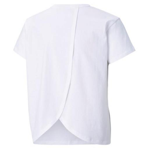 PUMA Alpha Silhouette Tee. 586181 White. Camiseta Niña. [1]