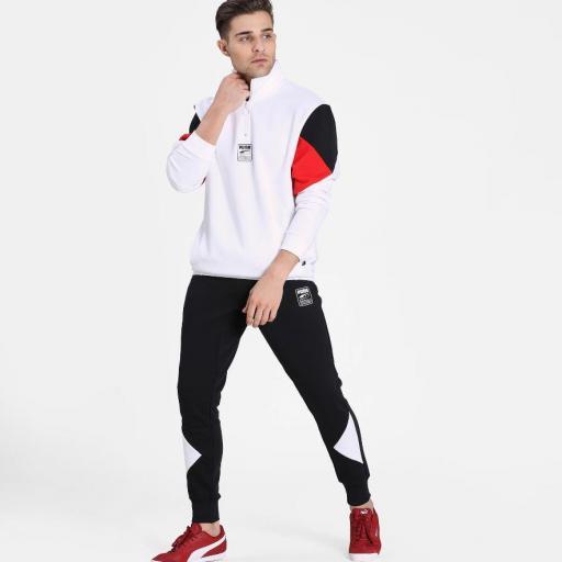 Puma Rebel Half zip Fl. White. 583573 02 [1]