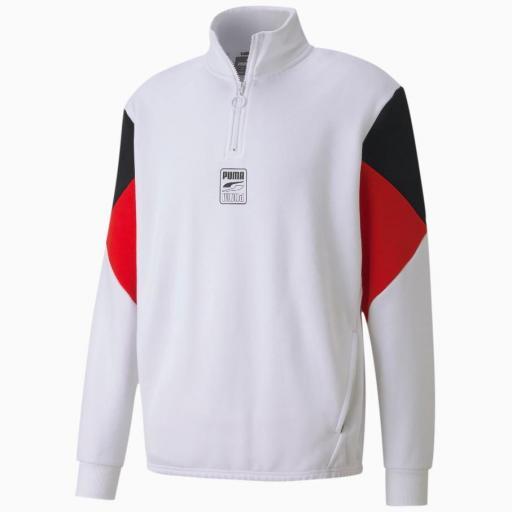 Puma Rebel Half zip Fl. White. 583573 02 [3]