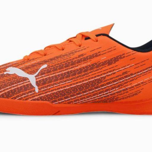 Puma Ultra 4.1 IT Jr. Bota de fútbol juvenil Indoor. 106104. Orange/black.