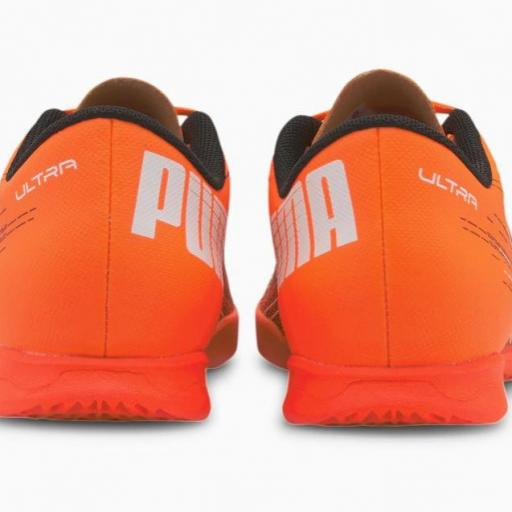 Puma Ultra 4.1 IT Jr. Bota de fútbol juvenil Indoor. 106104. Orange/black. [3]