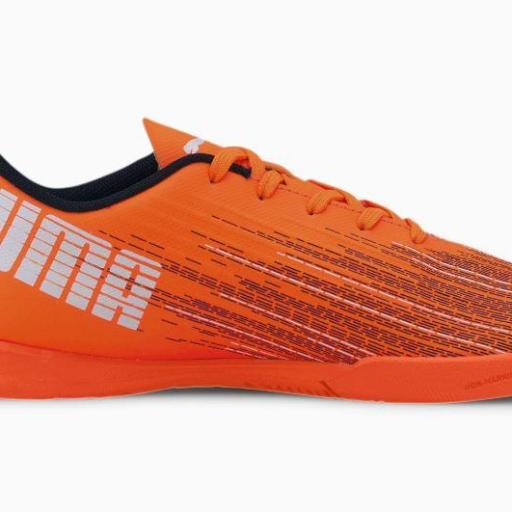 Puma Ultra 4.1 IT Jr. Bota de fútbol juvenil Indoor. 106104. Orange/black. [1]
