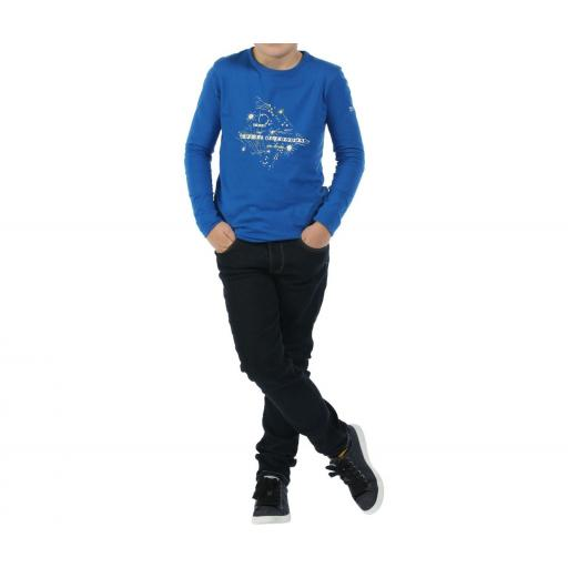 REGATTA WILDER , Camiseta manga larga Niño. RKT068. Azul.  [2]