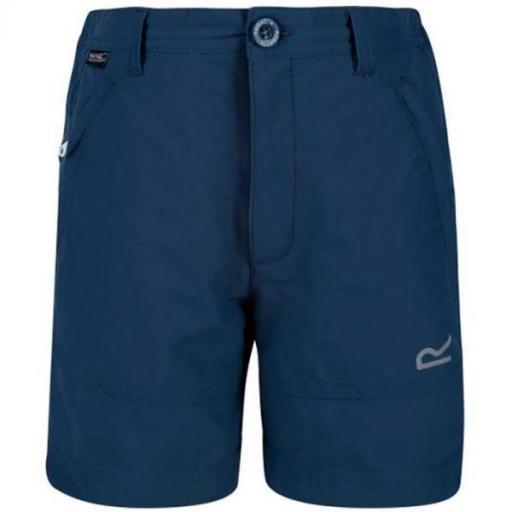 REGATTA  Jnr Highton Shorts. RKJ105. Dark Denim.