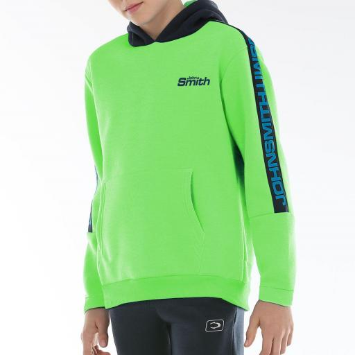 John Smith Roxen Sudadera Junior. Verde Flúor.