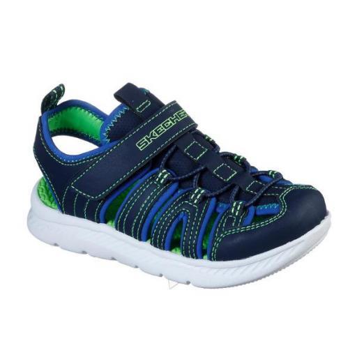 SKECHERS C-Flex Sandal 2.0- Heat -Blast. Navy/lime. 400041L/NVLM.  [2]