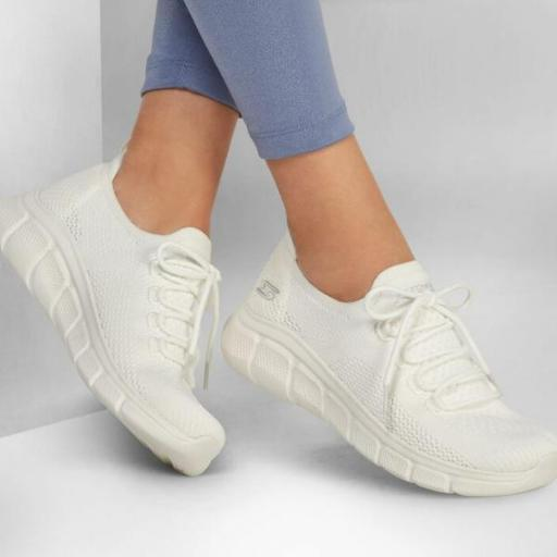 Skechers Bobs B Flex - Color Connect. White. 117121/WHT. [1]