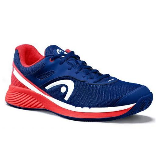 Zapatilla Pádel Head Sprint Evo 2.0 Clay Men. 273700. Red/dark blue