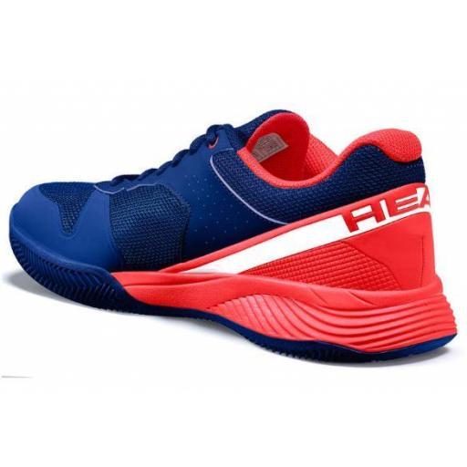 Zapatilla Pádel Head Sprint Evo 2.0 Clay Men. 273700. Red/dark blue [3]