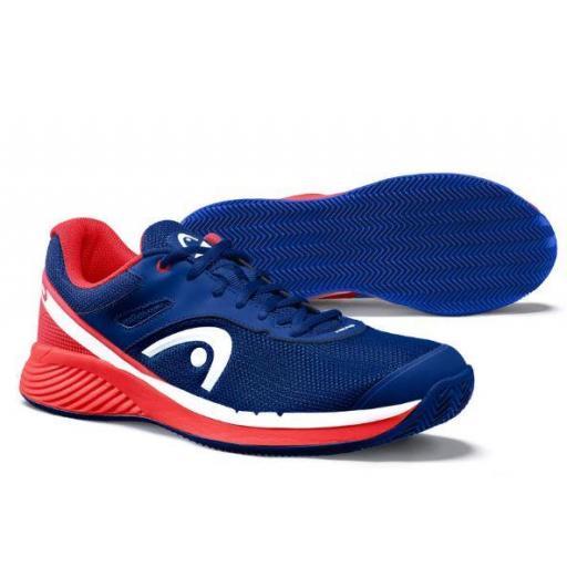 Zapatilla Pádel Head Sprint Evo 2.0 Clay Men. 273700. Red/dark blue [2]