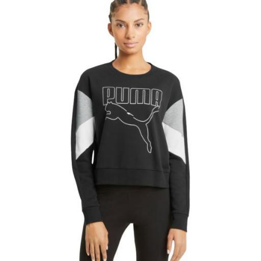 Puma Rebel Snake Sudadera Mujer. Black. 585750 01