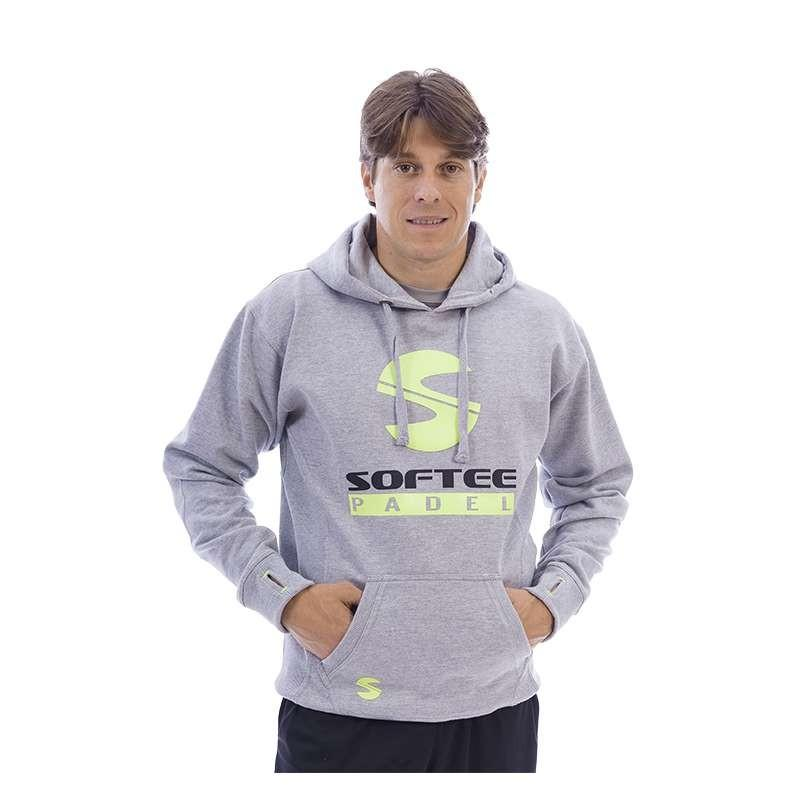 Sudadera pádel Softee Premium. Gris/Lima