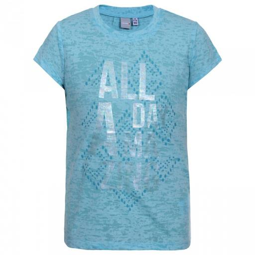 Camiseta manga corta Niña ICEPEAK TELMA JR. Color TURQUESA Y HOT PINK [1]