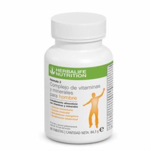Fórmula 2 Complejo de Vitamínas y Minerales. Hombre 60 cáp.