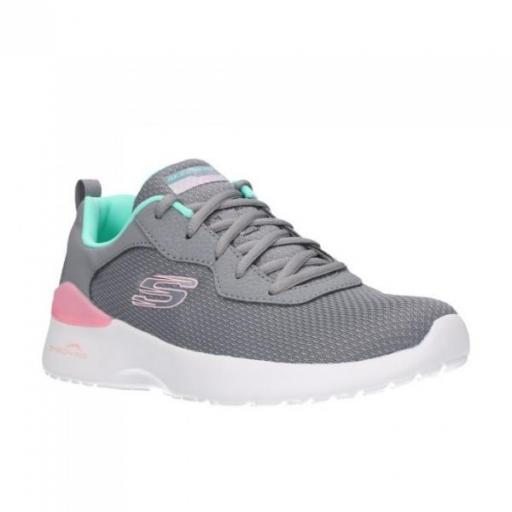 SKECHERS Skech-Air Dynamight-Radiant Choice. 149346/GYMN. Gray/mint. [1]