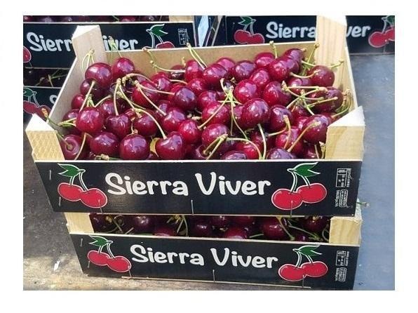 2 Cajas Cerezas Sierra Viver