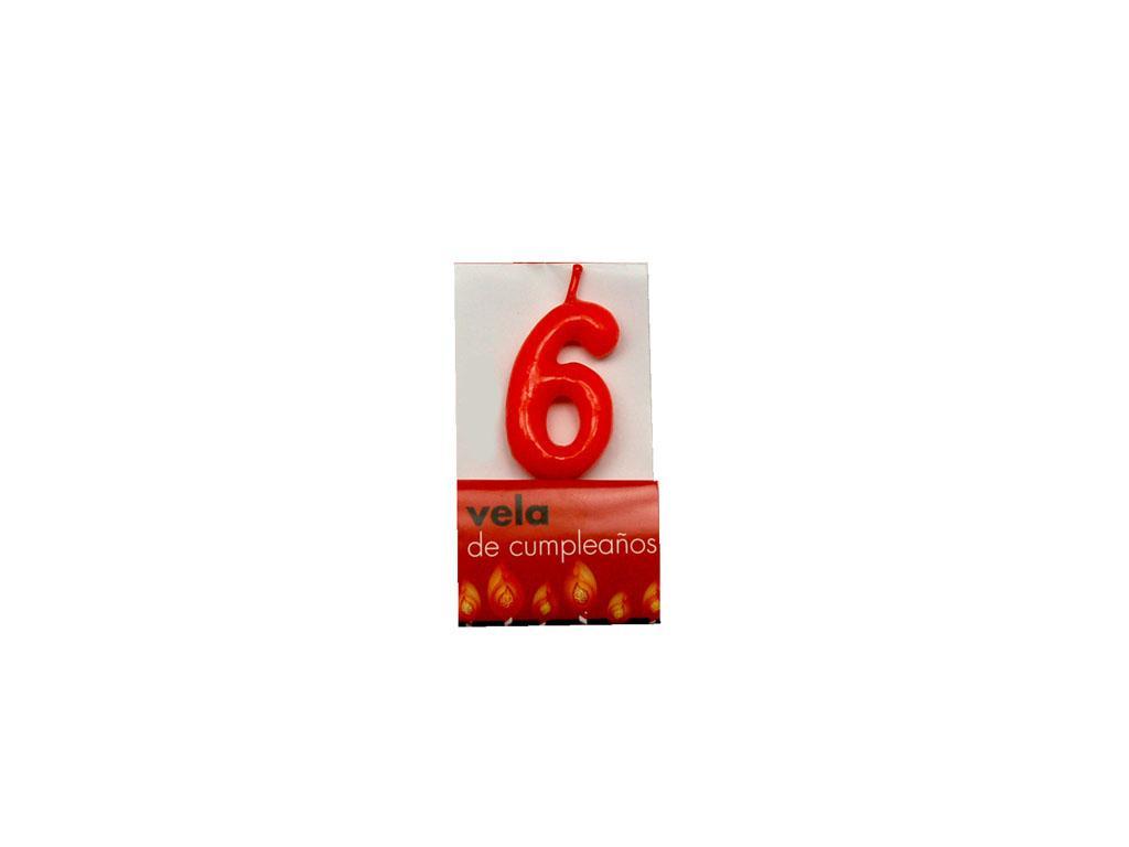 Vela roja nº6