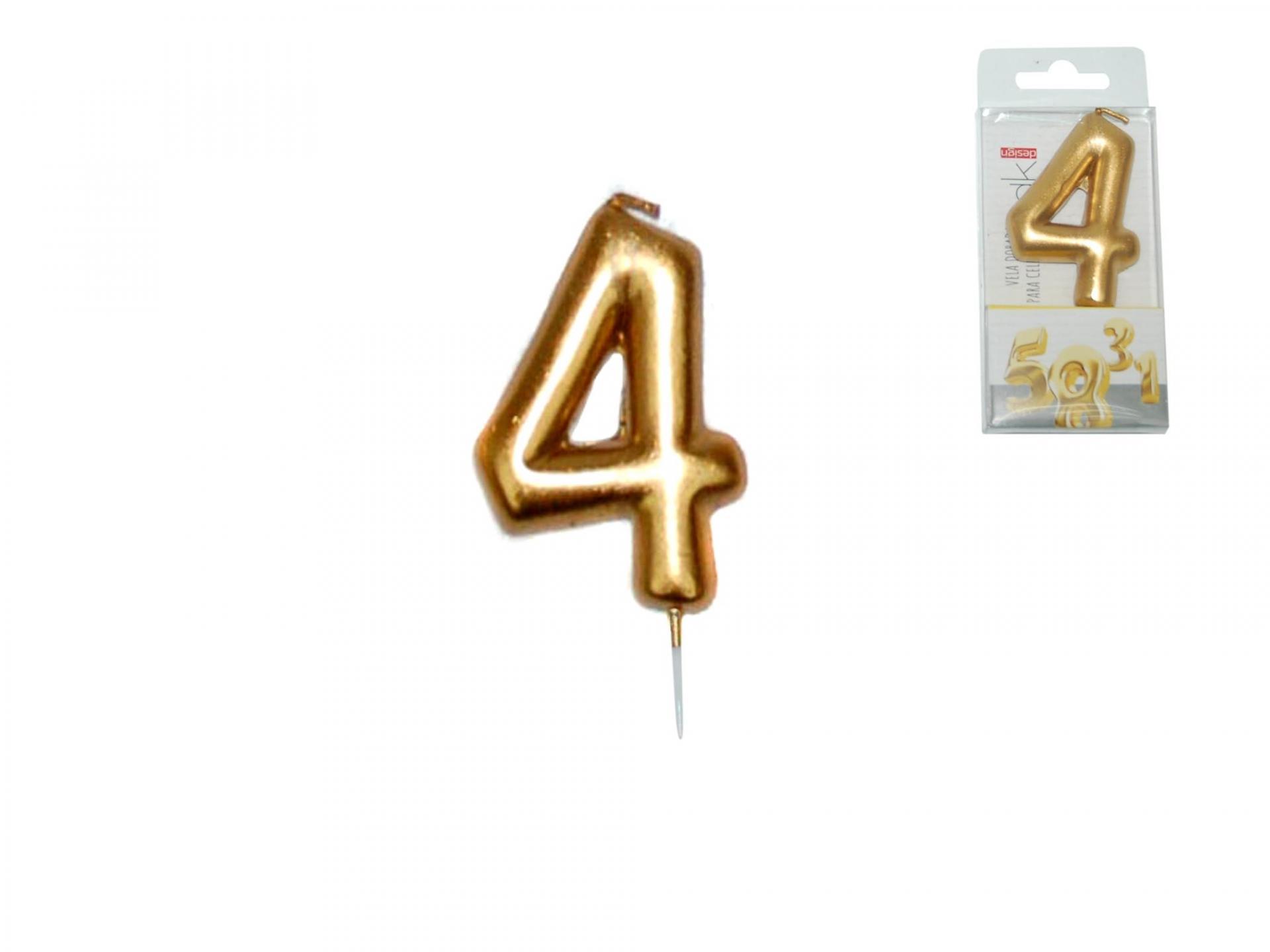 Vela dorada nº4