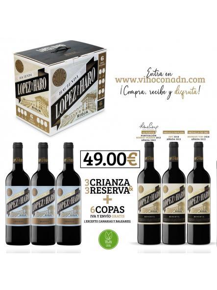 Lote Lopez de Haro + 6 copas [0]