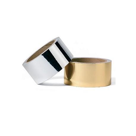 Cinta adhesiva Oro Metalizado,  25mm