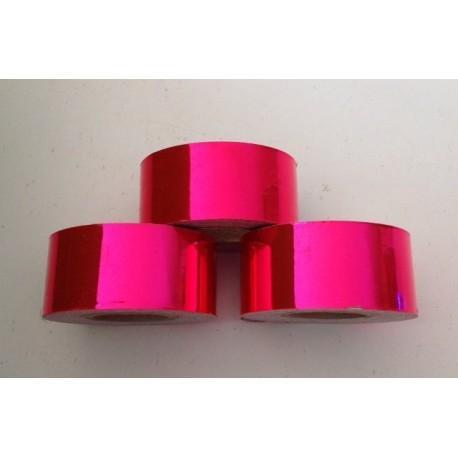 Cinta adhesiva Rosa Metalizado,  25mm