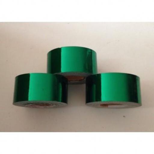 Cinta adhesiva Verde Metalizado,  25mm