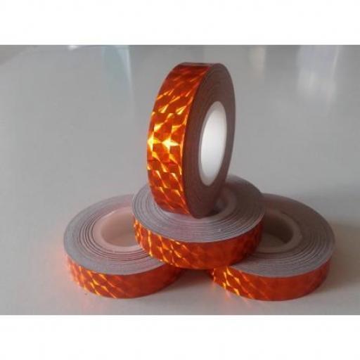 Cinta adhesiva 13mm, Naranja