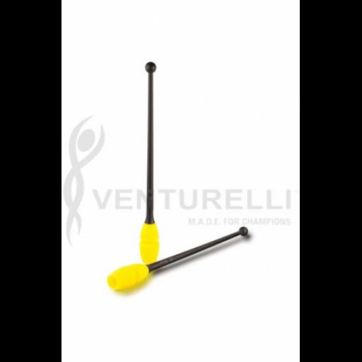 Mazas Caucho Venturelli, Black-Neon Yellow 45 cm