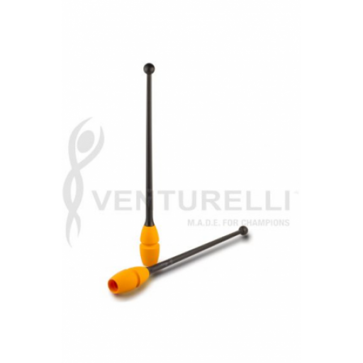 Mazas Caucho Venturelli, Black-Orange 45 cm