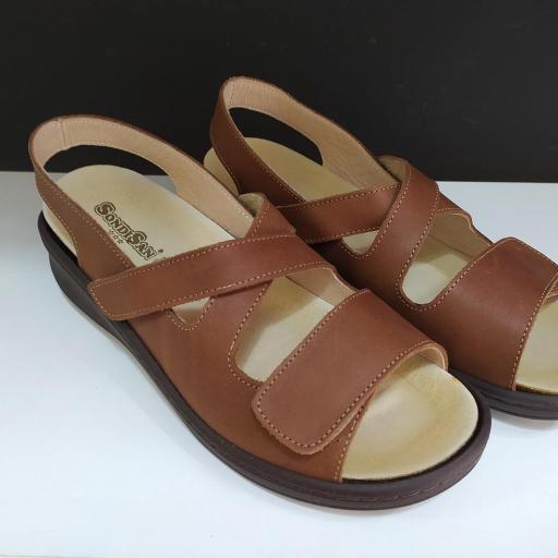 Sandalia plantillas marrón [0]
