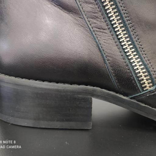 Botín tobillo extra ancho negro [3]