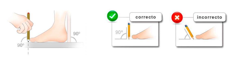 Cómo medir los pies