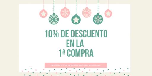 10% de descuento 1ª compra