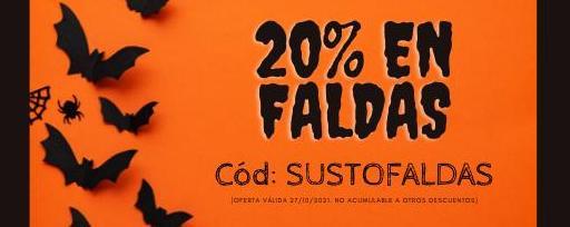 20% de descuento en FALDAS