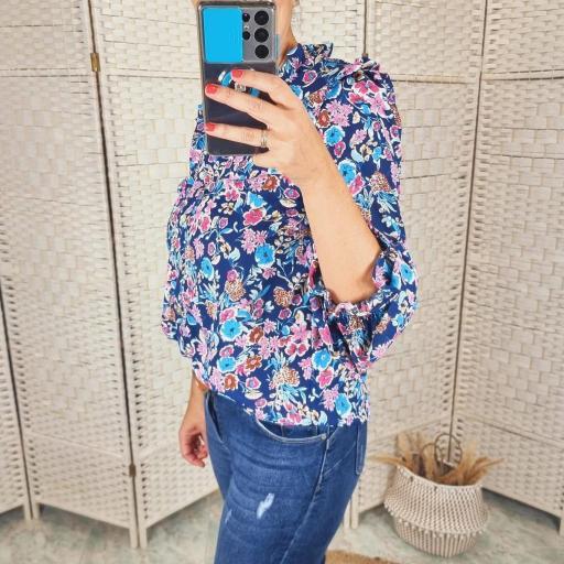 Blusa Floral Azul [1]