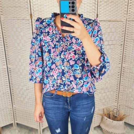 Blusa Floral Azul [2]