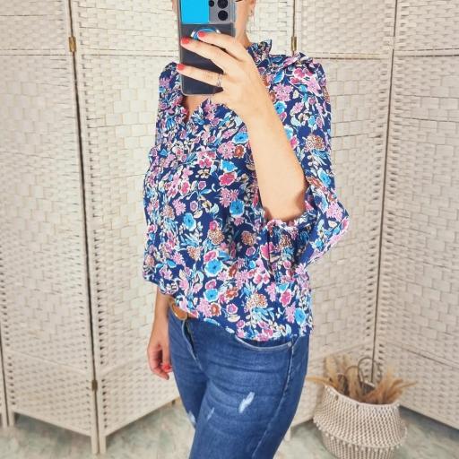 Blusa Floral Azul [3]